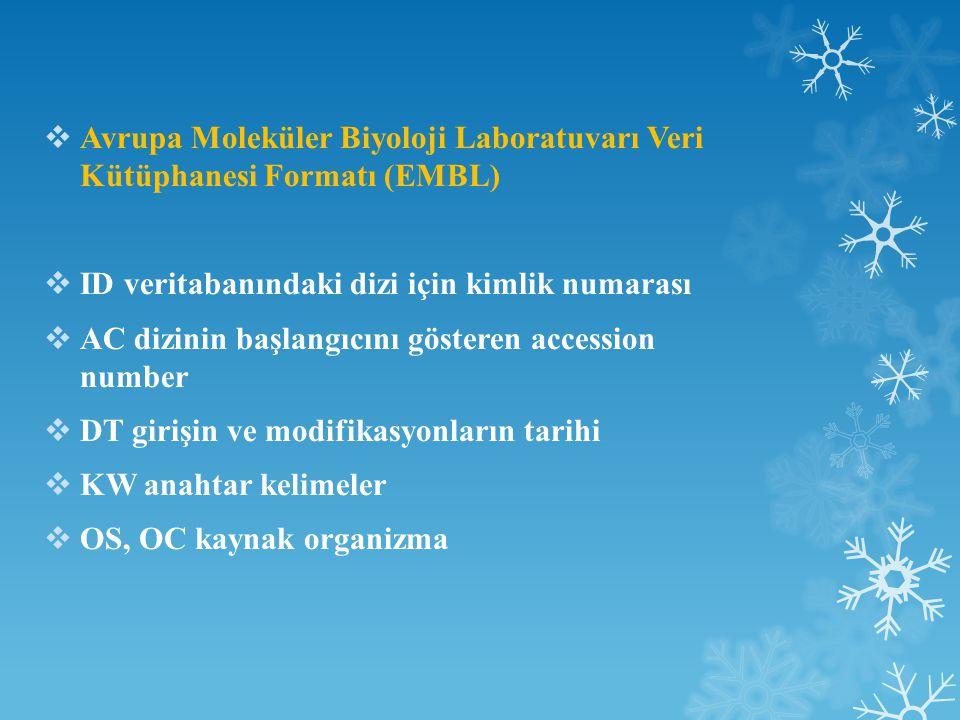 Avrupa Moleküler Biyoloji Laboratuvarı Veri Kütüphanesi Formatı (EMBL)