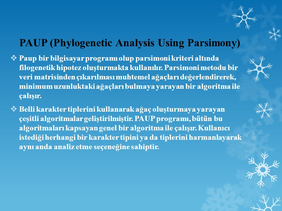 PAUP (Phylogenetic Analysis Using Parsimony)