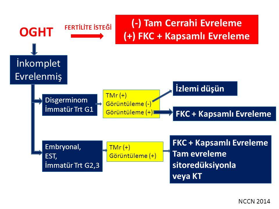 (-) Tam Cerrahi Evreleme (+) FKC + Kapsamlı Evreleme