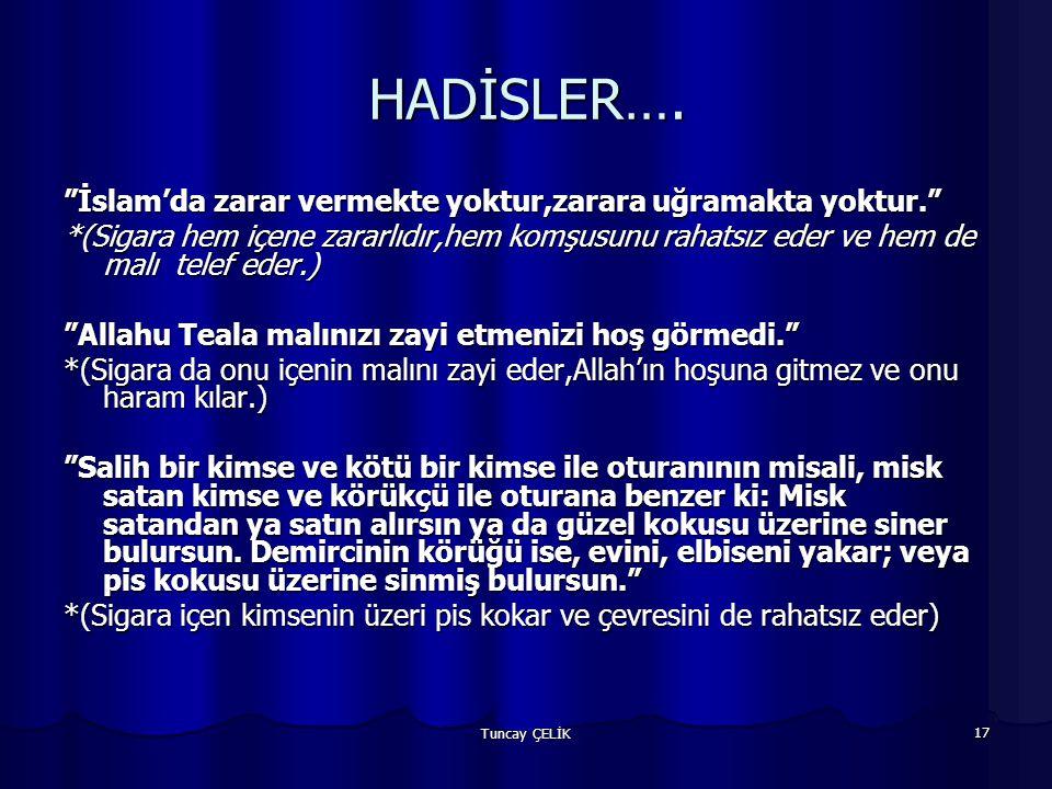HADİSLER…. İslam'da zarar vermekte yoktur,zarara uğramakta yoktur.