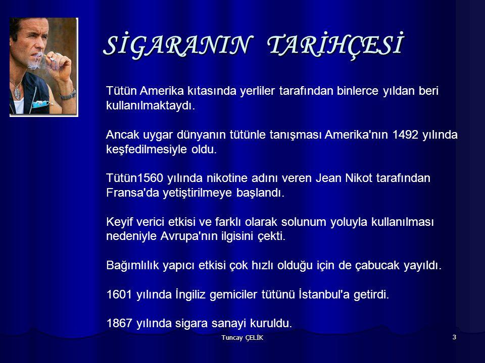 SİGARANIN TARİHÇESİ Tütün Amerika kıtasında yerliler tarafından binlerce yıldan beri kullanılmaktaydı.