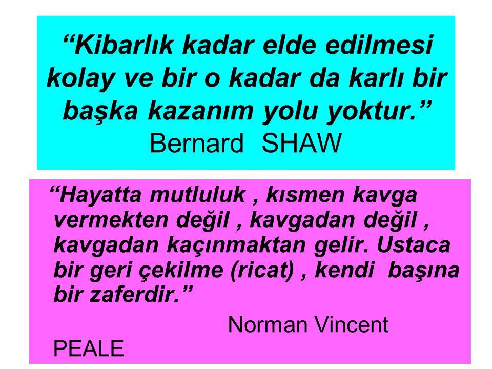 Kibarlık kadar elde edilmesi kolay ve bir o kadar da karlı bir başka kazanım yolu yoktur. Bernard SHAW