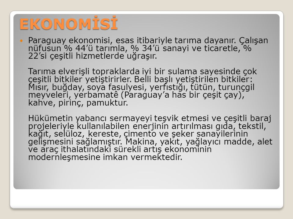 EKONOMİSİ