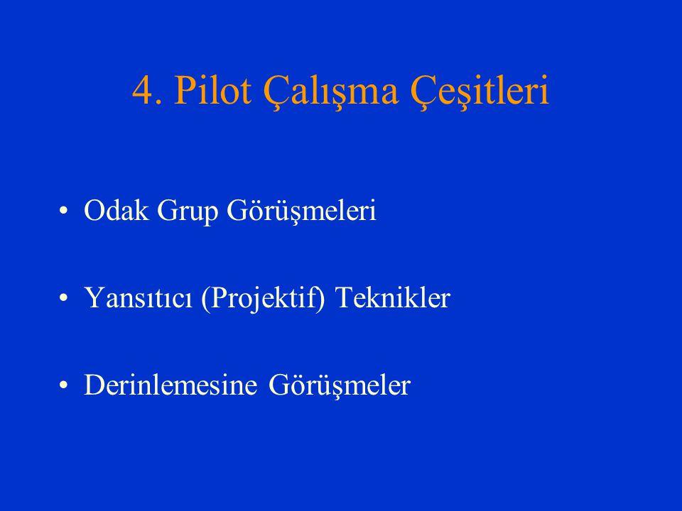 4. Pilot Çalışma Çeşitleri