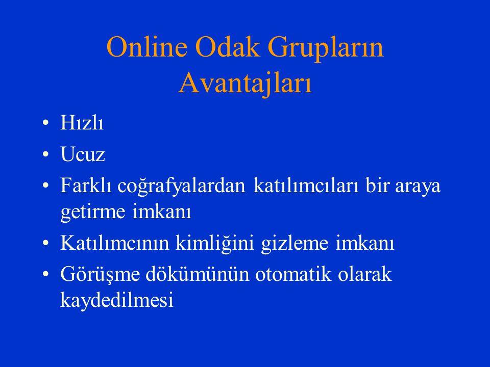 Online Odak Grupların Avantajları