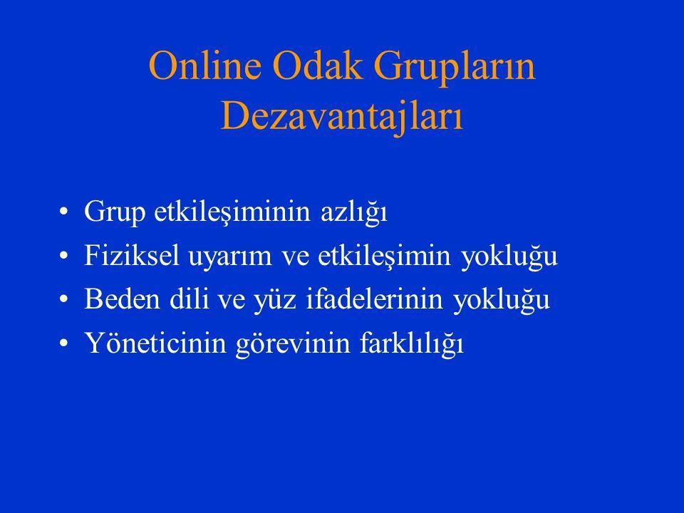 Online Odak Grupların Dezavantajları