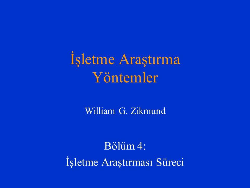 İşletme Araştırma Yöntemler William G. Zikmund