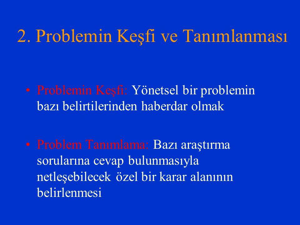 2. Problemin Keşfi ve Tanımlanması