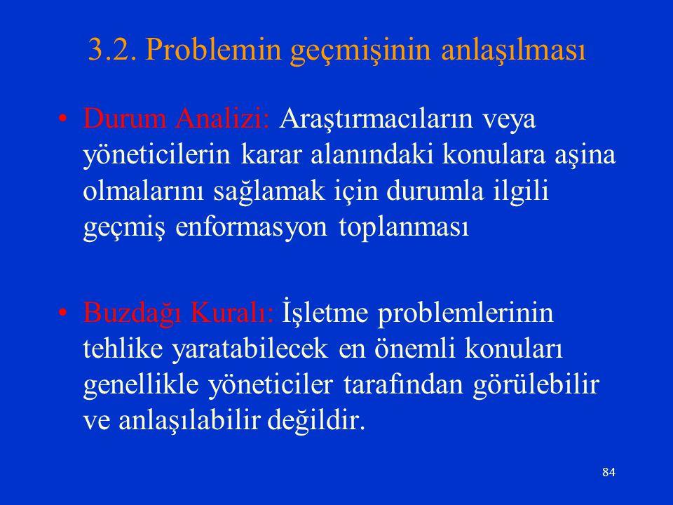 3.2. Problemin geçmişinin anlaşılması