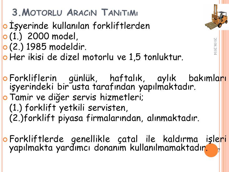 3.Motorlu Aracın Tanıtımı