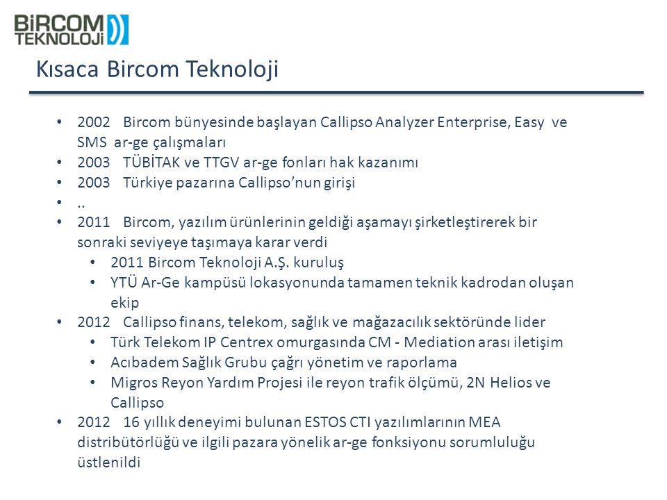 Kısaca Bircom Teknoloji