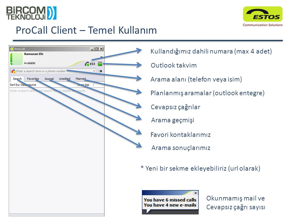 ProCall Client – Temel Kullanım