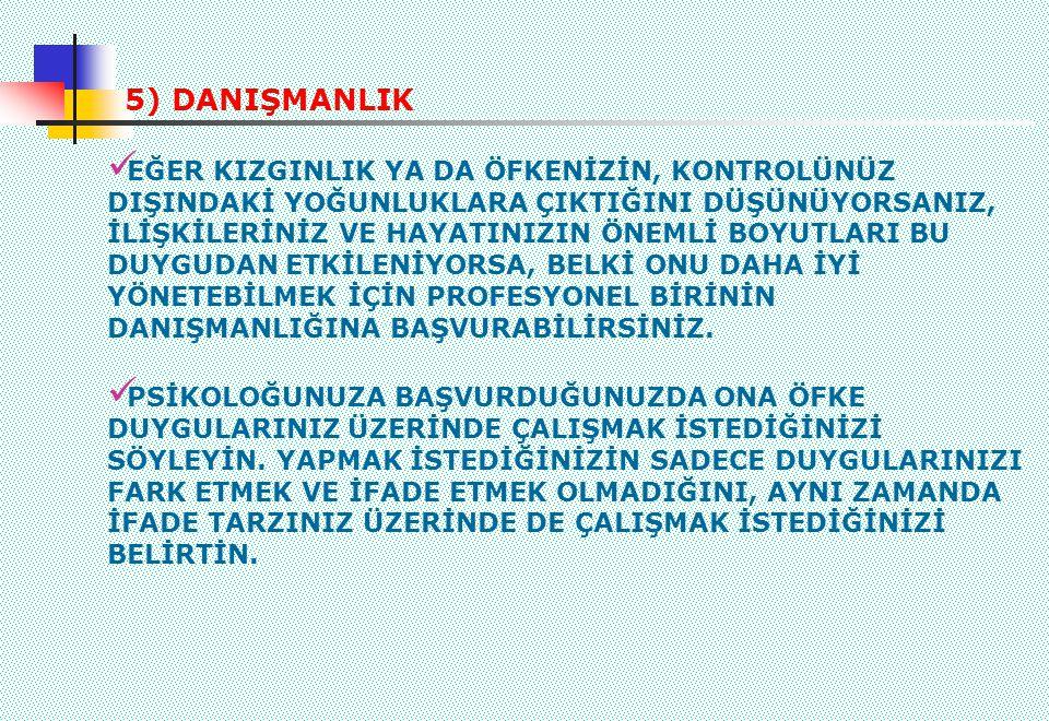 5) DANIŞMANLIK