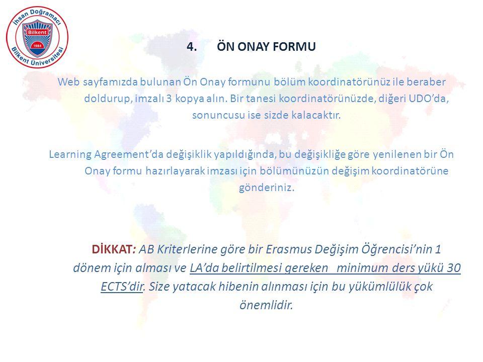 4. ÖN ONAY FORMU