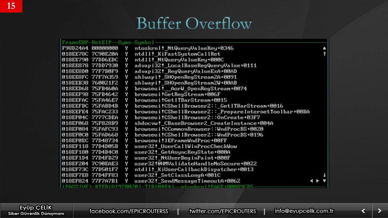 15 Buffer Overflow