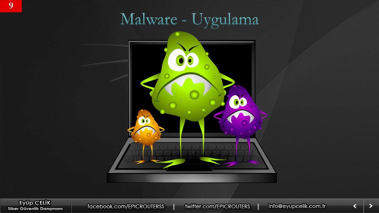9 Malware - Uygulama