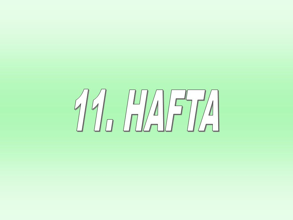 Chapter Seventeen 11. HAFTA