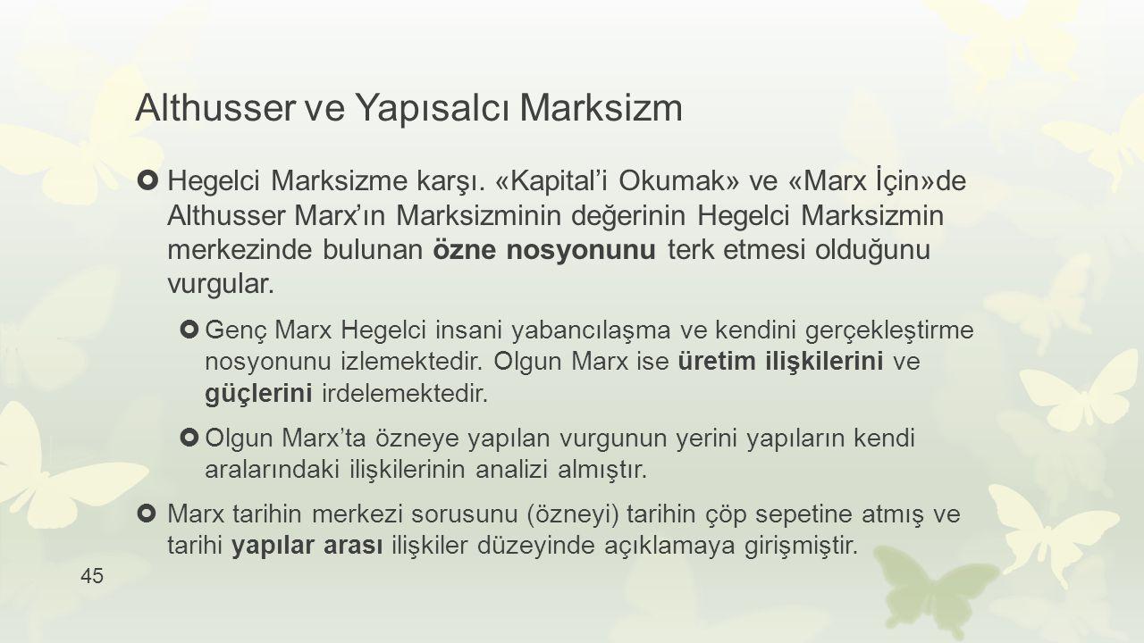 Althusser ve Yapısalcı Marksizm