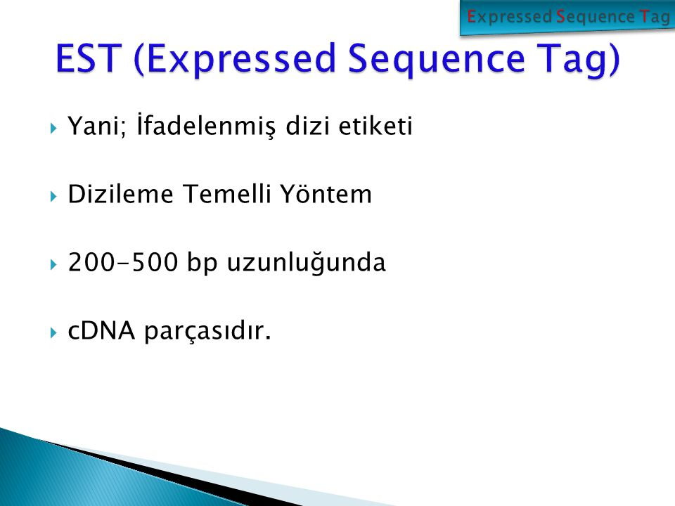 EST (Expressed Sequence Tag)