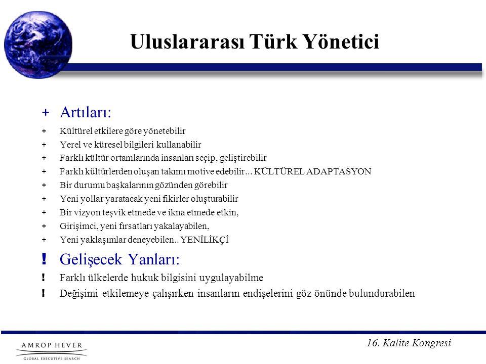 Uluslararası Türk Yönetici