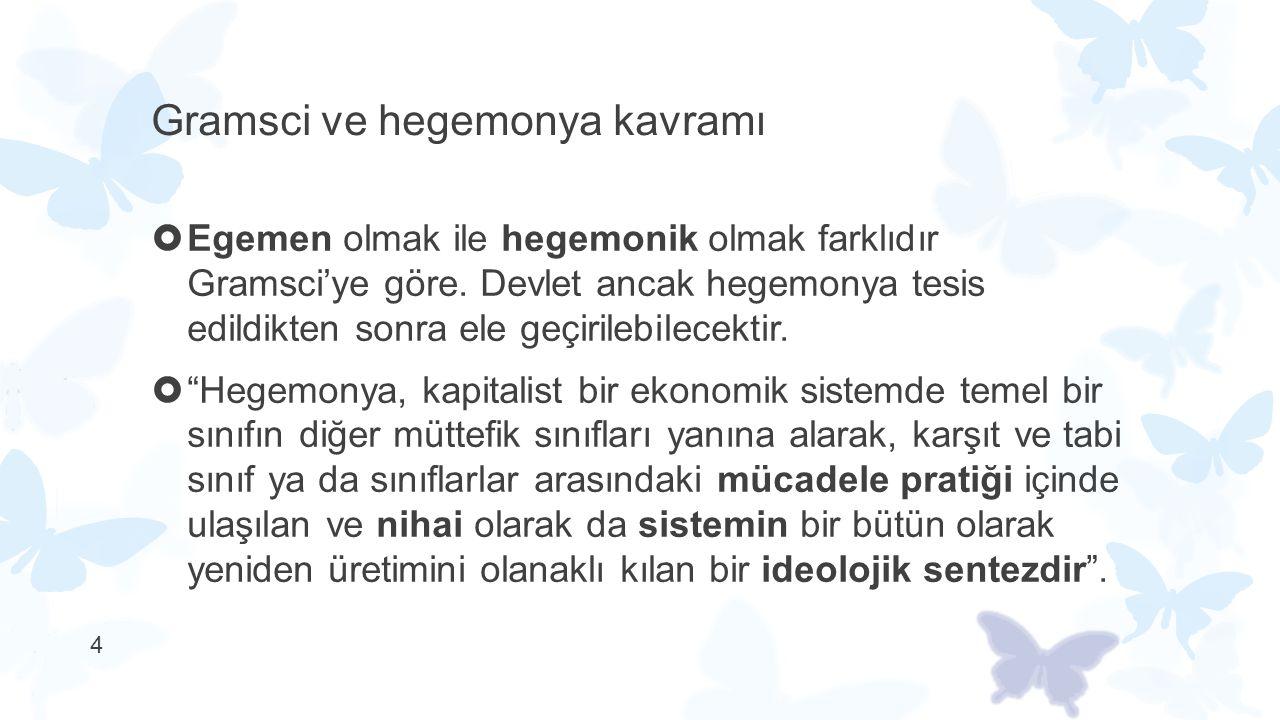 Gramsci ve hegemonya kavramı