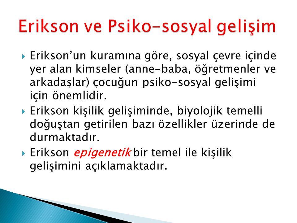 Erikson ve Psiko-sosyal gelişim