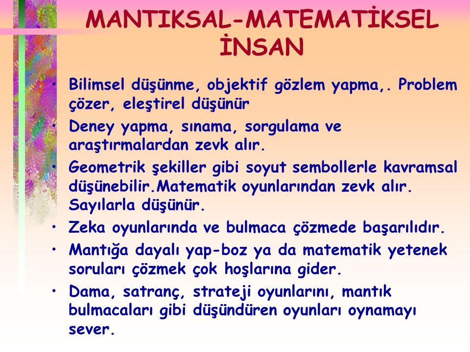 MANTIKSAL-MATEMATİKSEL İNSAN