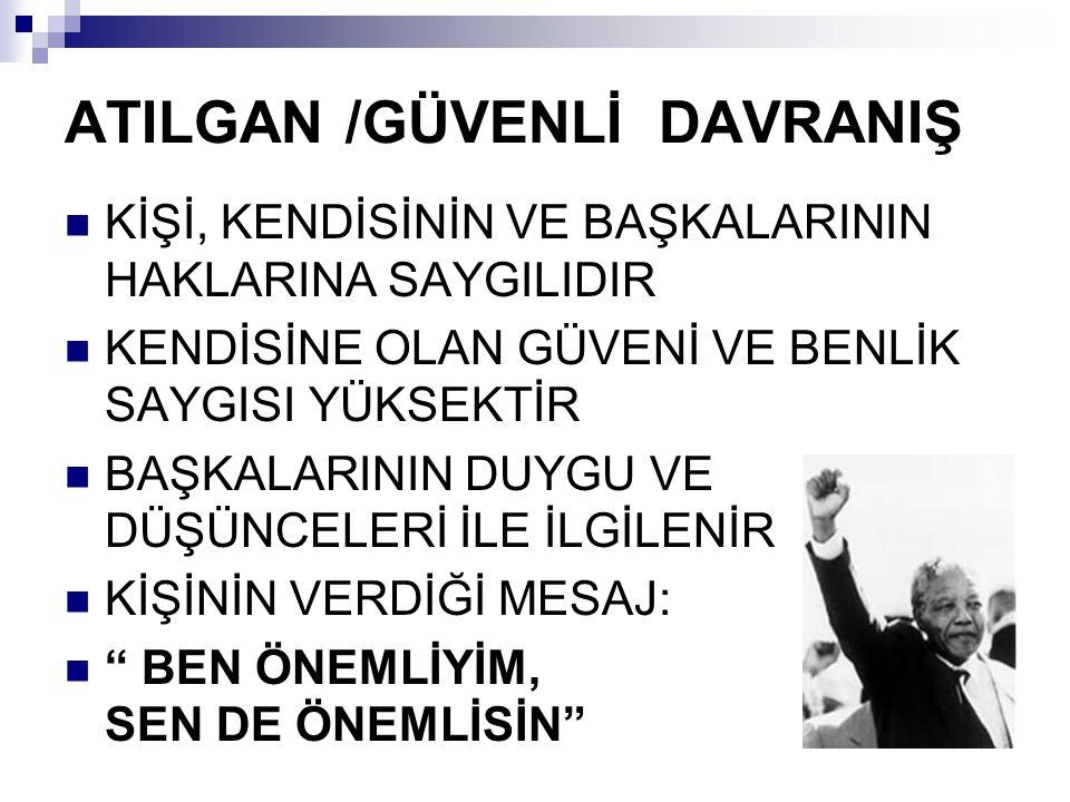 ATILGAN /GÜVENLİ DAVRANIŞ