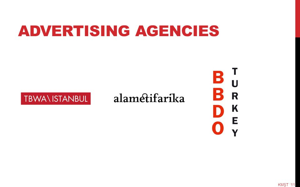 ADVERTISING AGENCIES KMŞT '11
