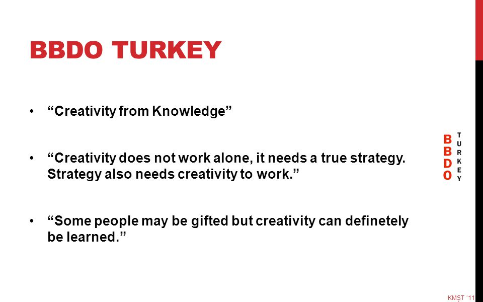 BBDO TURKEY Creativity from Knowledge