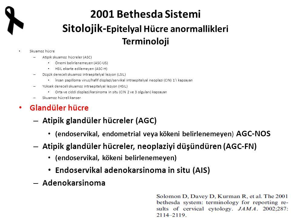 2001 Bethesda Sistemi Sitolojik-Epitelyal Hücre anormallikleri Terminoloji