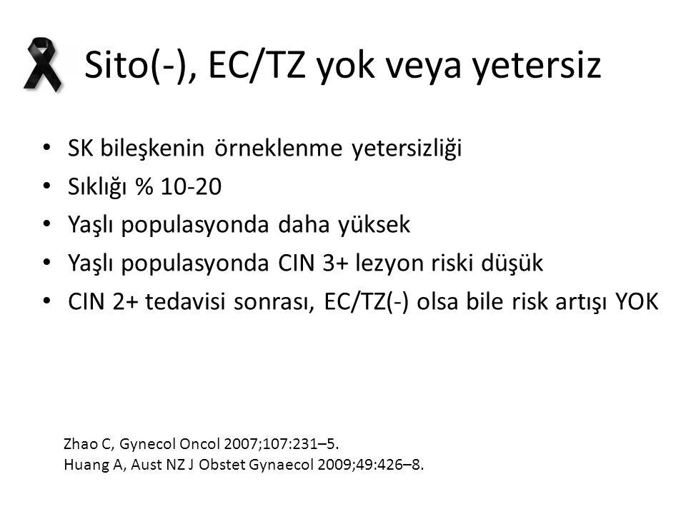 Sito(-), EC/TZ yok veya yetersiz