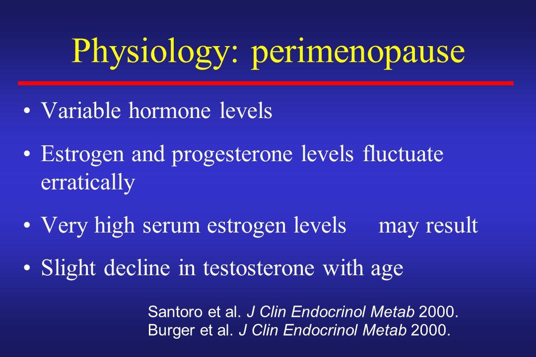 Physiology: perimenopause