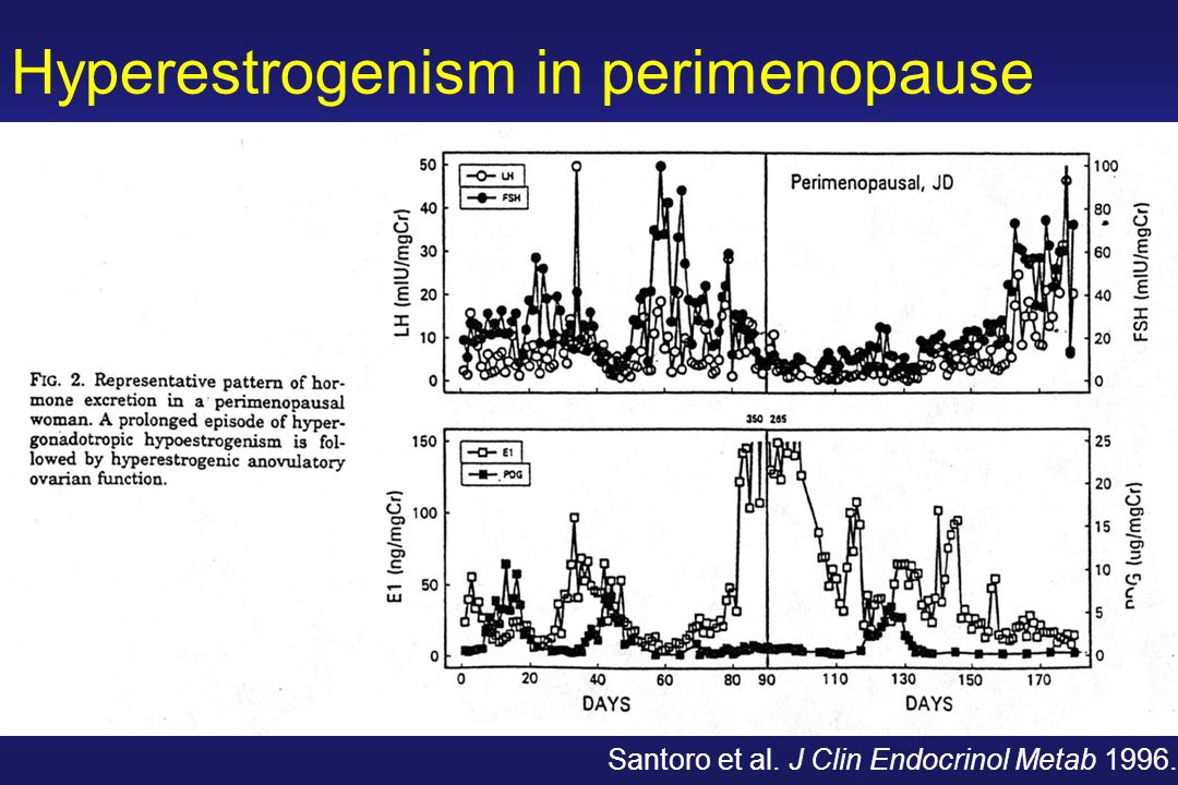 Hyperestrogenism in perimenopause