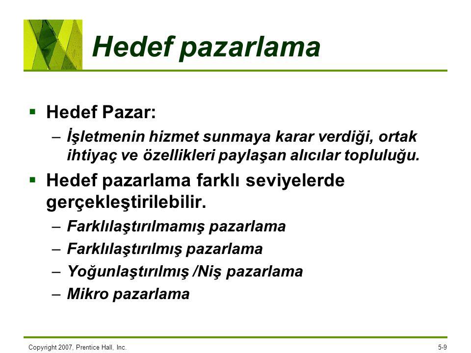 Hedef pazarlama Hedef Pazar: