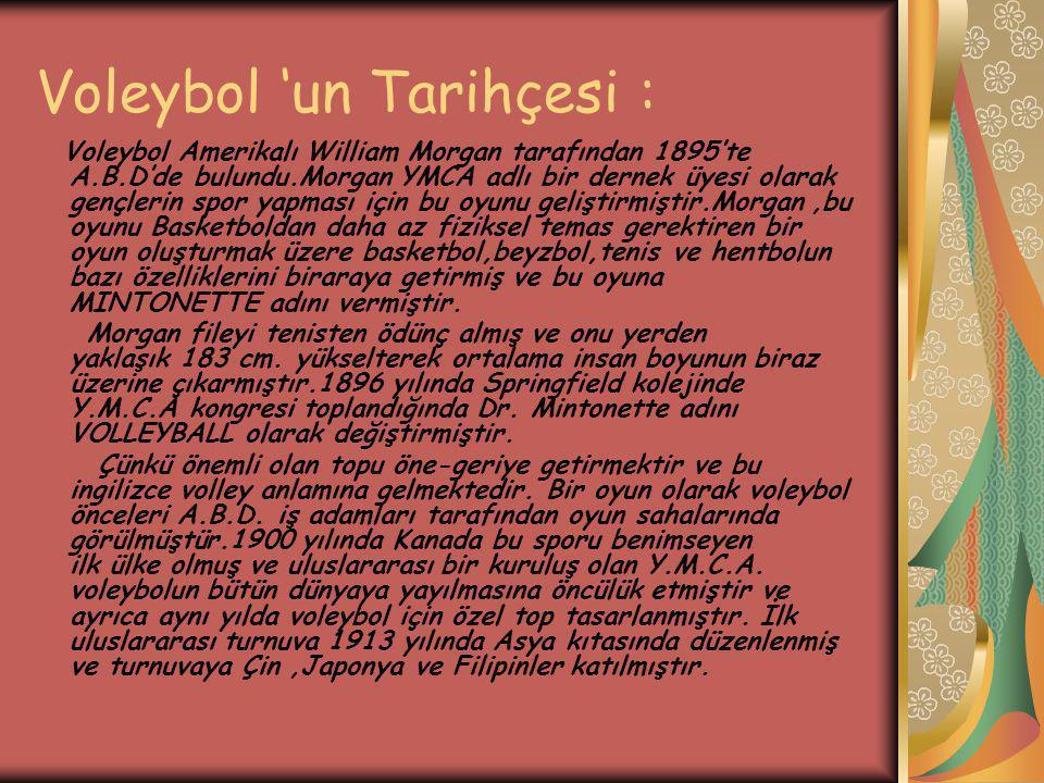Voleybol 'un Tarihçesi :