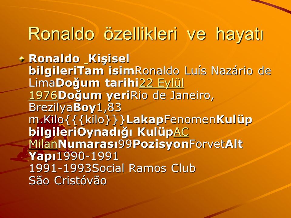 Ronaldo özellikleri ve hayatı