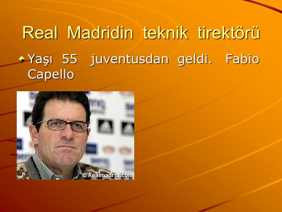 Real Madridin teknik tirektörü