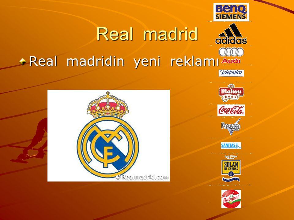 Real madrid Real madridin yeni reklamı