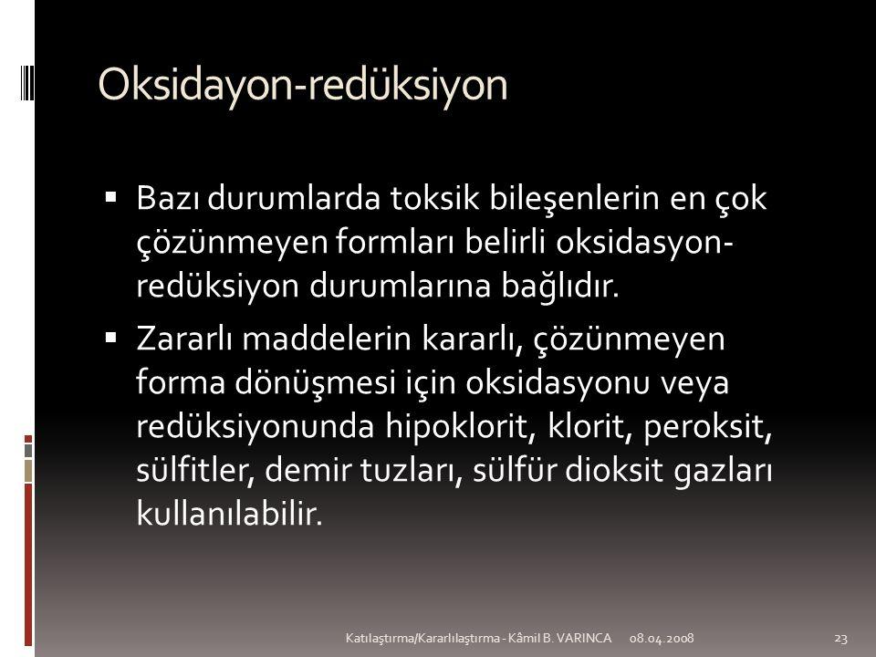 Oksidayon-redüksiyon