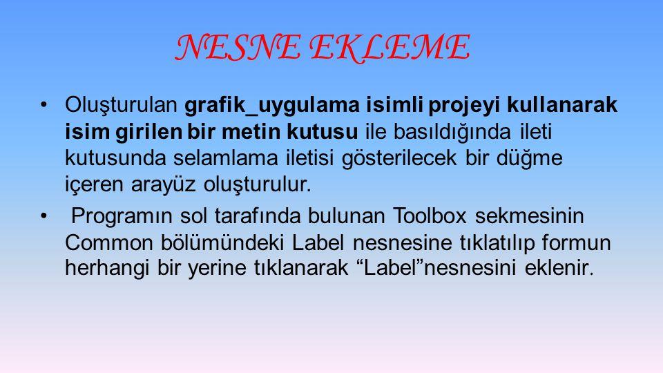 NESNE EKLEME
