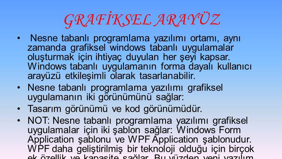 GRAFİKSEL ARAYÜZ
