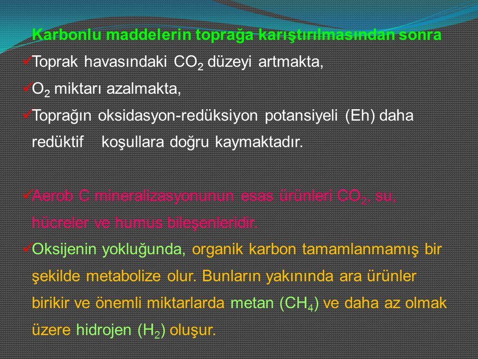 Karbonlu maddelerin toprağa karıştırılmasından sonra
