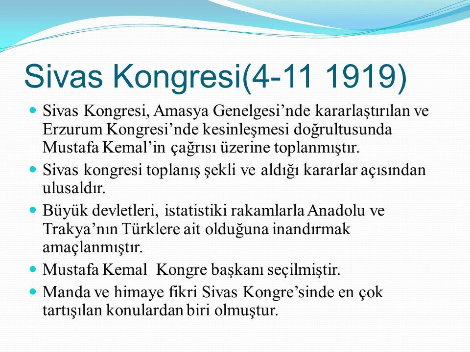 Sivas Kongresi(4-11 1919)