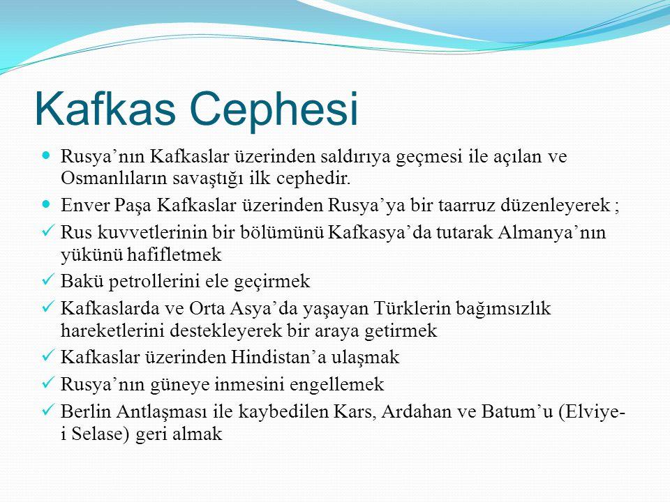 Kafkas Cephesi Rusya'nın Kafkaslar üzerinden saldırıya geçmesi ile açılan ve Osmanlıların savaştığı ilk cephedir.