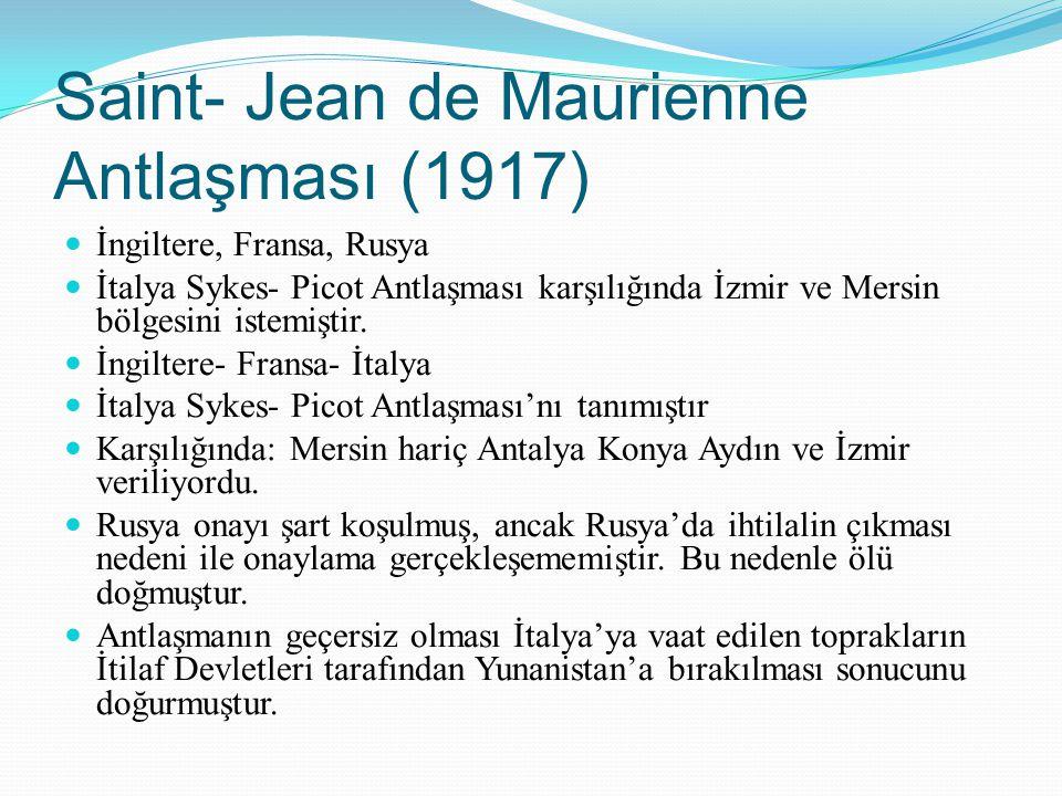Saint- Jean de Maurienne Antlaşması (1917)