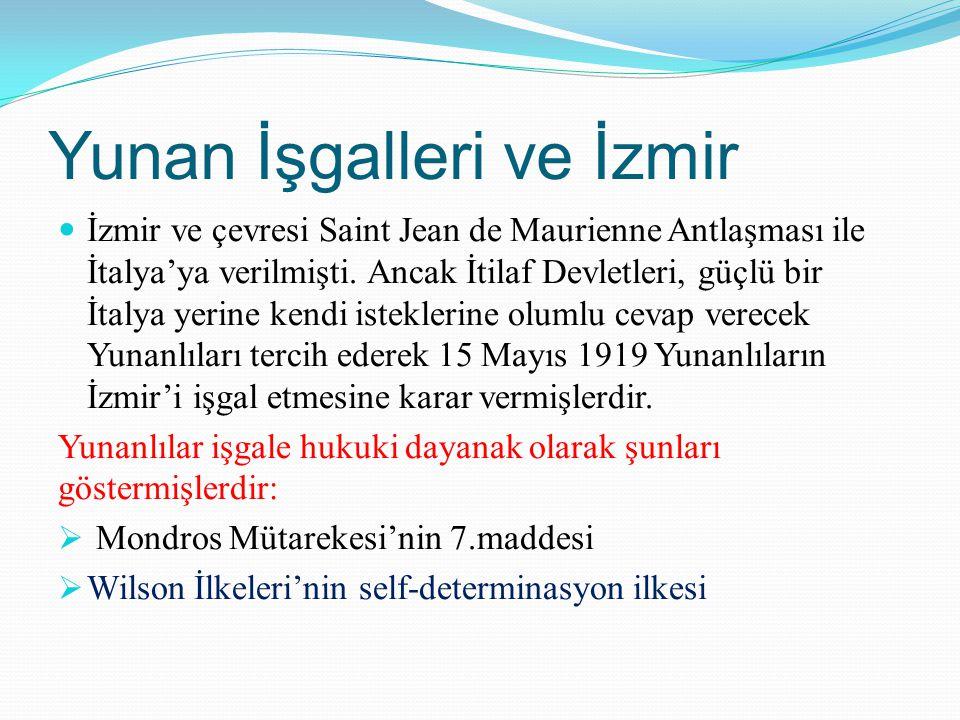 Yunan İşgalleri ve İzmir
