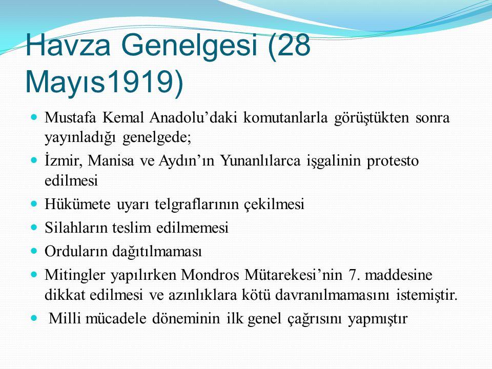 Havza Genelgesi (28 Mayıs1919)