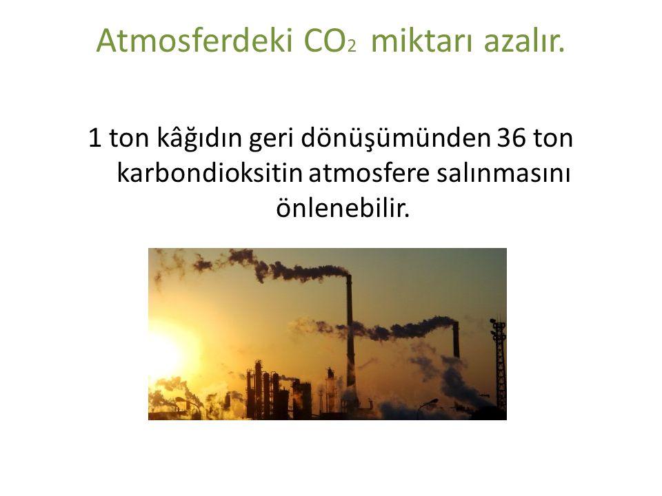 Atmosferdeki CO2 miktarı azalır.