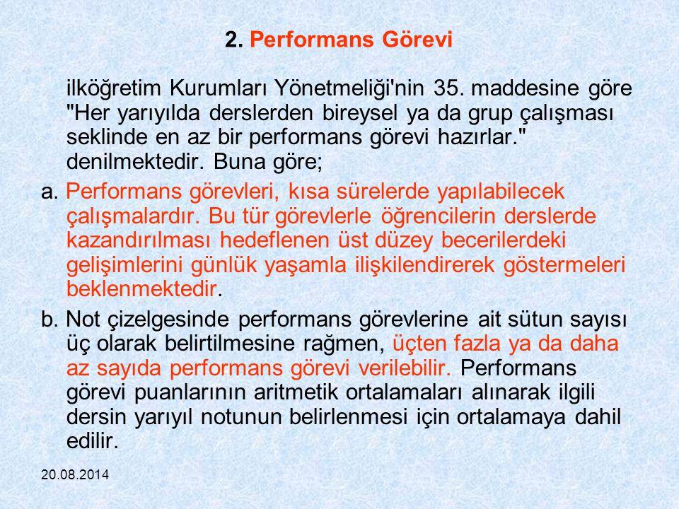 2. Performans Görevi